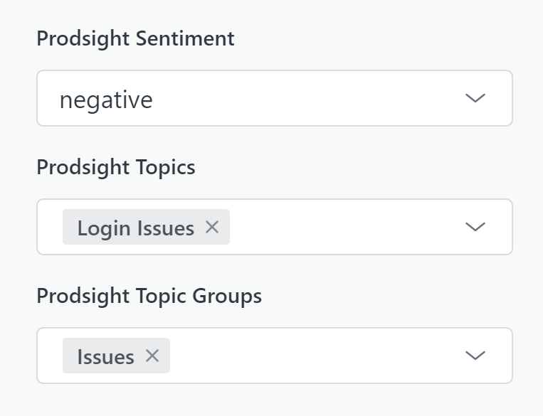 Sync Prodsight sentiment and topics back to Zendesk ticket fields